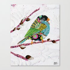 Cafe Swirly Bird. Candy Colored Edition Canvas Print