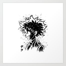 Anime Hero Art Print
