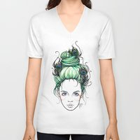 pride V-neck T-shirts featuring Pride by Nora Bisi