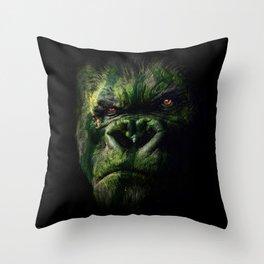 Watermelokong Throw Pillow