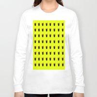 coke Long Sleeve T-shirts featuring Coke Yellow by Jeef
