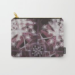 Dill Head in Dark Violet, Dreamy Floral Pattern Design Carry-All Pouch