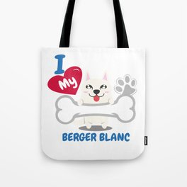 BERGER BLANC Cute Dog Gift Idea Funny Dogs Tote Bag