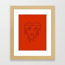 Pizza Heart Framed Art Print