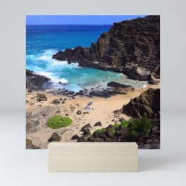 "Forbidden, ""NO TRESPASSING"" Beach in Oahu, Hawaii Mini Art Print"