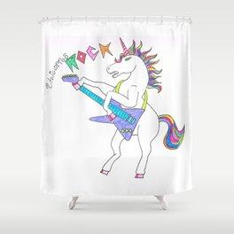 Unicorns can ROCK Shower Curtain