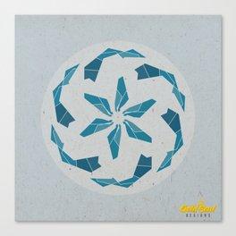 Mandala no.3 Blue Canvas Print