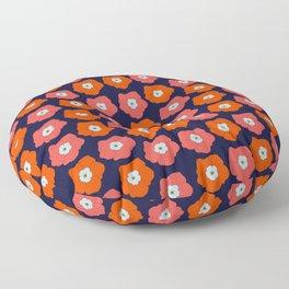 Polka Flowers Floor Pillow
