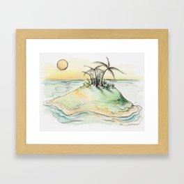 My secret Island Getaway Framed Art Print