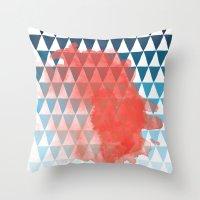 berlin Throw Pillows featuring Berlin by Menina Lisboa
