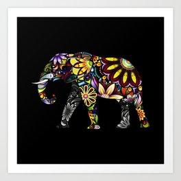 Aztec Elephant Art Print