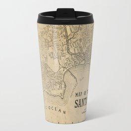Santa Cruz Vintage Map Travel Mug