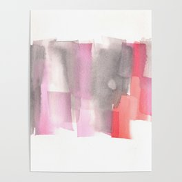 [161228] 26. Abstract Watercolour Color Study |Watercolor Brush Stroke Poster