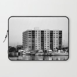 Waterfront Condos In Black & White Laptop Sleeve