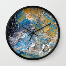Mineralogy - Abstract Flow Acrylic Wall Clock