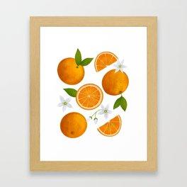 Spring Oranges Framed Art Print