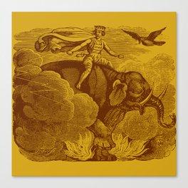 The Occult Golden Elephant Canvas Print