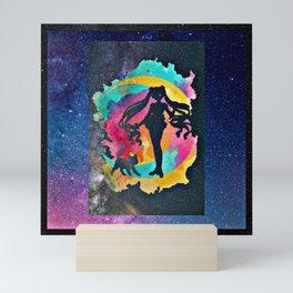Star shadow moon princess Mini Art Print