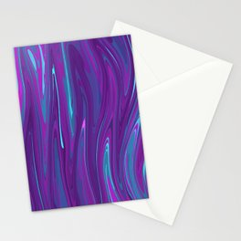 Pink, Purple, and Blue Waves 2 Stationery Cards