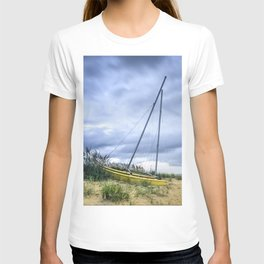 Sailboat Aground During Storm T-shirt