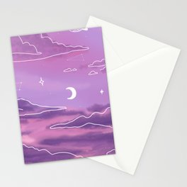 Purple Sunset View Stationery Cards
