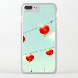 Lanterns III, Chinatown Clear iPhone Case