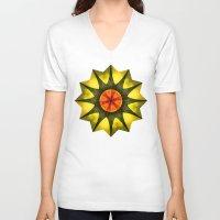 polygon V-neck T-shirts featuring Star polygon by LudaNayvelt