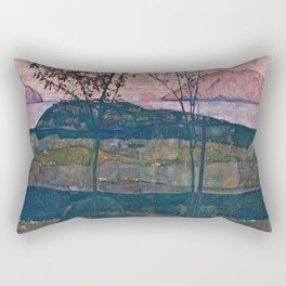 Egon Schiele - Setting Sun Rectangular Pillow