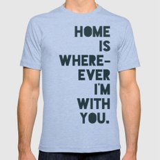 Home is with You SMALL Mens Fitted Tee Tri-Blue