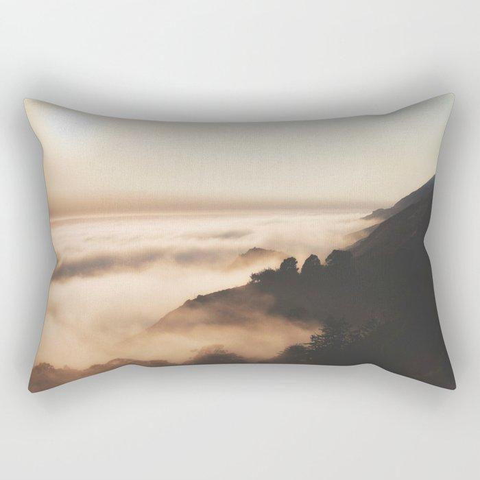 Mountain Fog #sun Rectangular Pillow