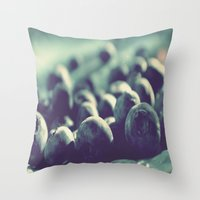 indigo Throw Pillows featuring Indigo by Nieves Montano