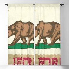 Vintage California Flag Blackout Curtain