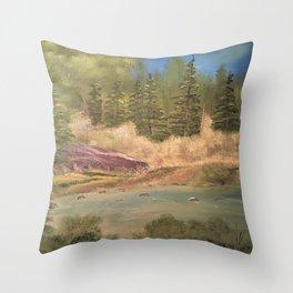 Sleeping rock - Summer day Throw Pillow