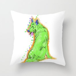 The happy GERMAN SHEPHERD Love of My Life! your GSP dog keeps you smiling! Throw Pillow