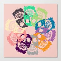 skulls Canvas Prints featuring skulls by Mike Bauer