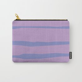 Abstract | Purple Lines Carry-All Pouch