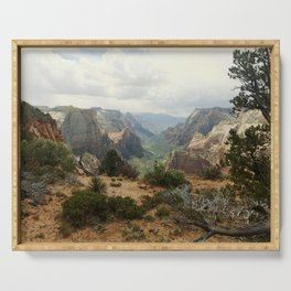 Above Zion Canyon Serving Tray