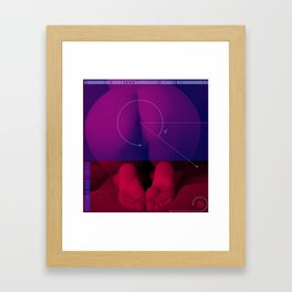 Blue Block Behind. Framed Art Print