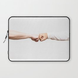 Fist Bumb Greeting Motivation Business High Five Laptop Sleeve