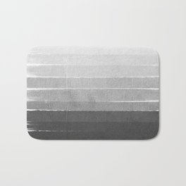 Brushstroke - Ombre Grey, Charcoal, minimal, Monochrome, black and white, trendy,  painterly art  Bath Mat
