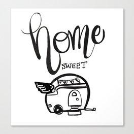 HOME SWEET HOME RV CAMPER Canvas Print