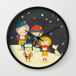 Christmas Carols Singers Wall Clock