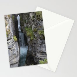 maligne river waterfall Stationery Cards