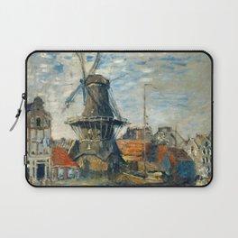 "Claude Monet ""The Windmill, Amsterdam"", 1871 Laptop Sleeve"