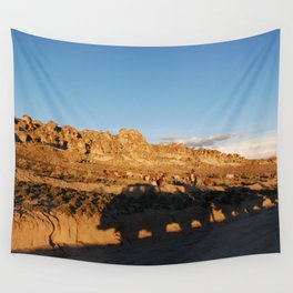 Sunset with shades and lamas Wall Tapestry