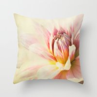 dahlia Throw Pillows featuring dahlia by lucyliu