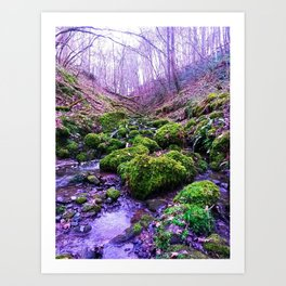 paths of purple Art Print