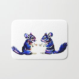 When Acrylic Chinchilla meets Colour Pencil Chinchilla Bath Mat