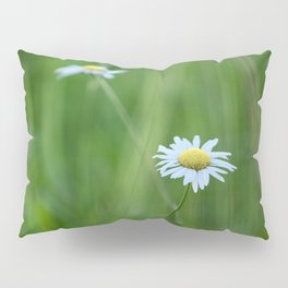 Single White Flower Pillow Sham