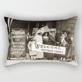 Suffrage Envoy Photograph (1915) Rectangular Pillow